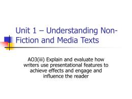 AO2v – Explaining the Writer's Use of Language
