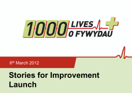 Stories for Improvement Launch