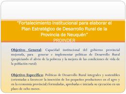 Fortalecimiento Institucional para elaborar el Plan