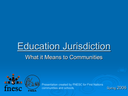 Education Jurisdiction