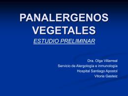 PANALERGENOS VEGETALES