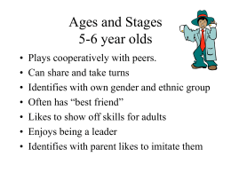 Ages and Stages 5