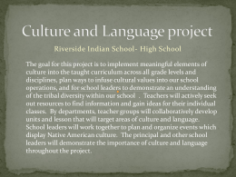Culture and Language project