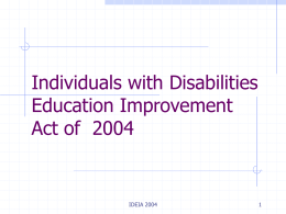 Individuals with Disabilities Education Improvement Act of