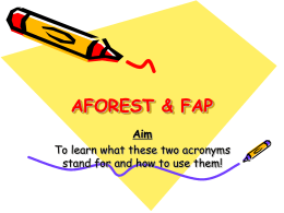 AFOREST – making your essay writing more persuasive
