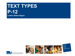 TEXT TYPES  - sandhurstliteracy