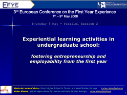 Experiential learning activities in undergraduated …