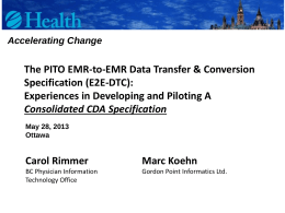 The PITO EMR-to-EMR Data Transfer & Conversion