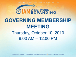 IAM Governing Membership Meeting
