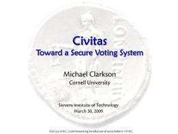 Civitas: A Secure Remote Voting System