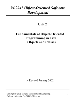 Part 1 - Fundamentals of OOP in Java: Objects and Classes