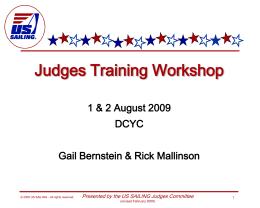 Judges' Workshop