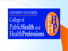 APROSODIA - College of Public Health & Health Professions
