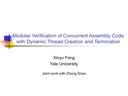 Modular Verification of Concurrent Assembly Code
