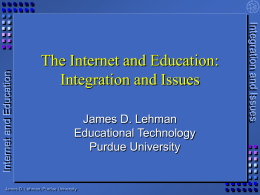 The Internet and Education: Resources for Improving