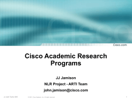 Cisco University Research Programs