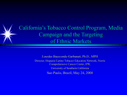 California's Tobacco Control Progam and the Media …
