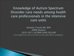 Knowledge of autism spectrum disorder care needs …