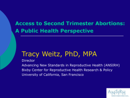 2nd Trimester Abortion - The Bixby Center on Population