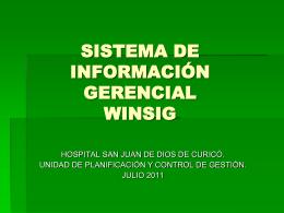 WINSIG - Hospital San Juan de Dios de Curic&#243