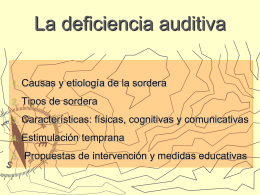 La deficiencia auditiva