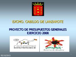 PRESUPUESTOS GENERALES - Cabildo de Lanzarote.