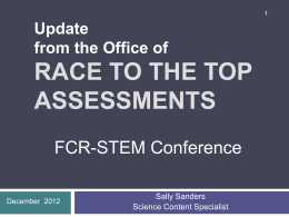 Race to the top assessments
