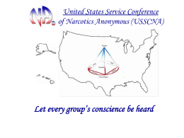United States Service Conference of Narcotics …