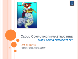 Cloud Computing Infrastructure Prepare to fly!