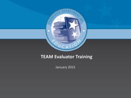 TEAM Evaluator Training