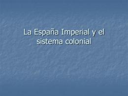 El sistema colonial - U of L Class Index