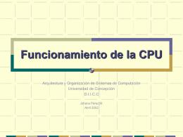 Funcionamiento de la CPU