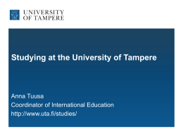 Tampereen yliopisto - University of Tampere