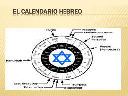 El calendario hebreo