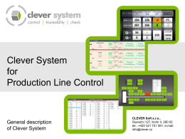 PLC - Product Line Controlling