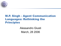 M.P. Singh - Agent Communication Languages: …