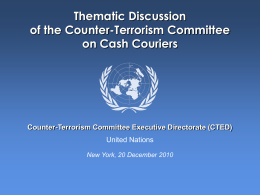 COUNTER-TERRORISM COMMITTEE EXECUTIVE …