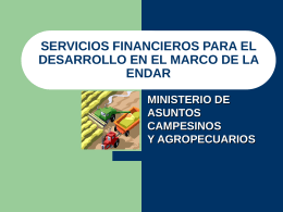 DESARROLLO DEL MERCADO FINANCIERO RURAL