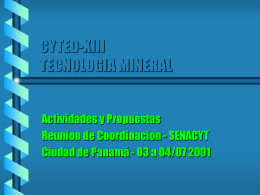 CYTED-XIII TECNOLOGIA MINERAL