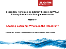 Presentation title - South Australian Secondary Principals