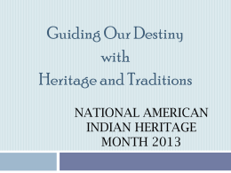 National American Indian Heritage Month 2013