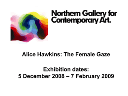 Alice Hawkins 'The Female Gaze'