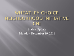 Wheatley Choice Neighborhood Initiatives