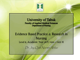 University of Tabuk Faculty of Applied Medical Sciences