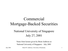 COMMERICAL MORTGAGE