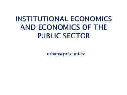 INSTITUTIONAL ECONOMICS AND ECONOMICS OF THE …