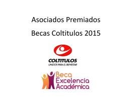 Becas Coltitulos 2015
