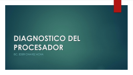 DIAGNOSTICO DEL PROCESADOR