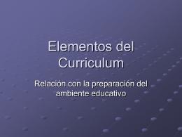 Fuentes y Principios del Curriculum