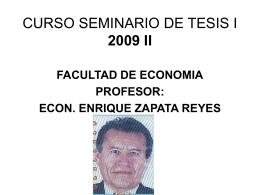 CURSO SEMINARIO DE TESIS I 2009 II